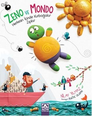 ZENO VE MONDO - HERKESİN İÇİNDE KURBAĞA ZIPLAR Kitap Kapağı